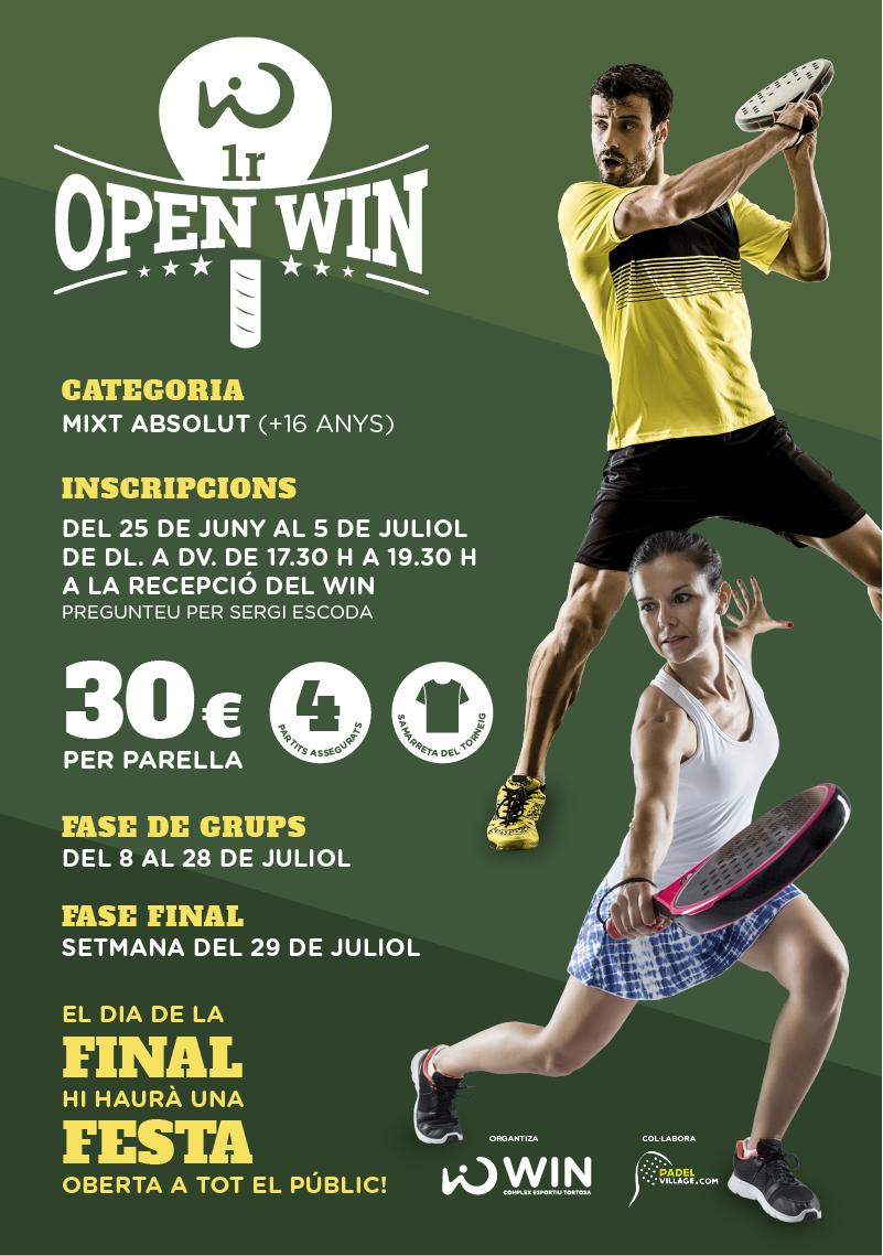 Cartell 1r Open WIN de pàdel
