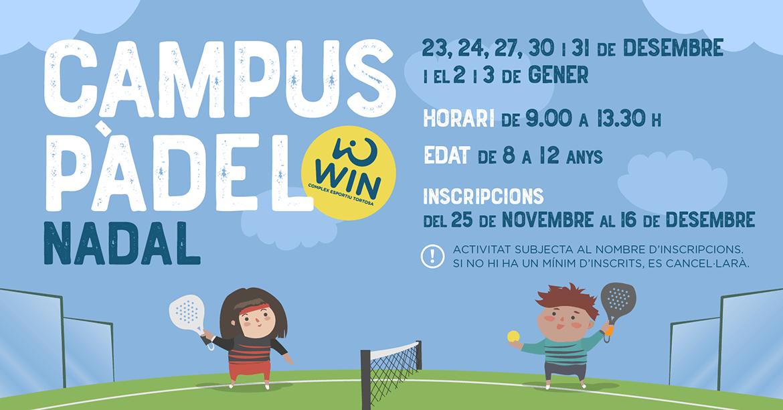 campus pàdel Nadal 2019 - WIN Tortosa